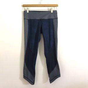 Lululemon | Navy wunder under shashiko leggings
